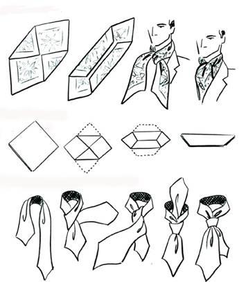 Как сшить мужской галстук шарфик 99